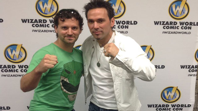 Dave with Power Ranger Jason David Frank
